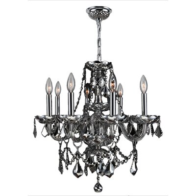 Doggett 8-Light Chain Crystal Chandelier Crystal Color: Chrome