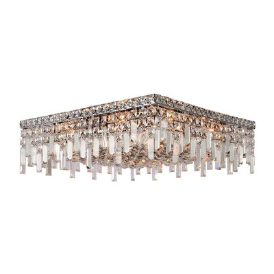 Anjali Metal 12-Light Flush Mount