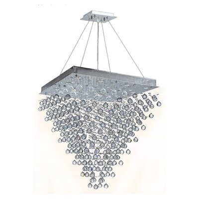 Icicle 16-Light Crystal Chandelier Size: 36 H x 32 W x 32 D