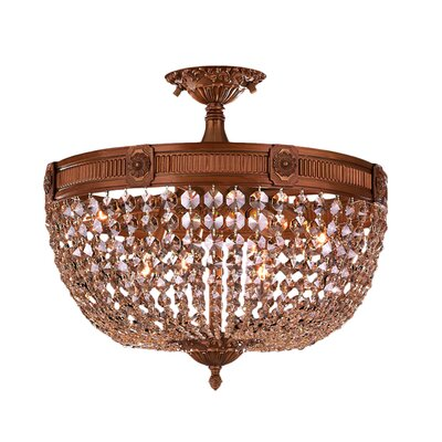 Reimer 6-Light Glass Semi Flush Mount