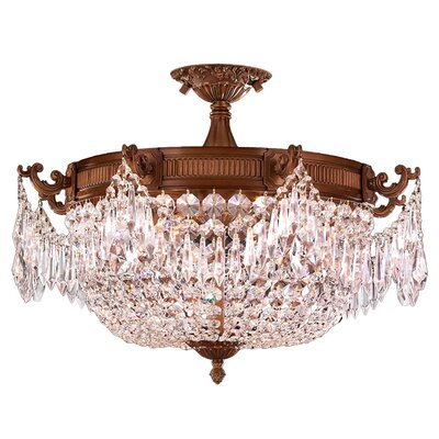 Winchester 4-Light Semi Flush Mount Crystal Color: Clear