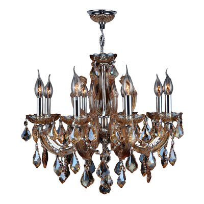 Roslyn 8-Light Crystal Chandelier