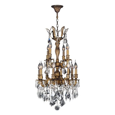 Dodson Traditional 12-Light Crystal Chandelier