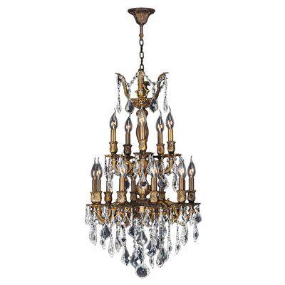 Dodson 15-Light Chain Crystal Chandelier Size: 33 H x 19 W x 19 D