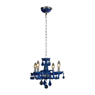 Yvette 4-Light Semi Flush Mount Finish: Sapphire