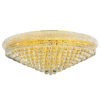 Carson 20-Light Flush Mount Finish: Gold