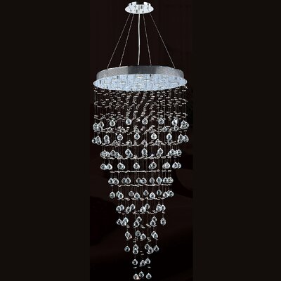 Icicle 12-Light Crystal Chandelier Size: 36