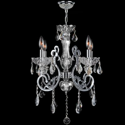 Koome 4-Light Crystal Chandelier Crystal Color: Clear