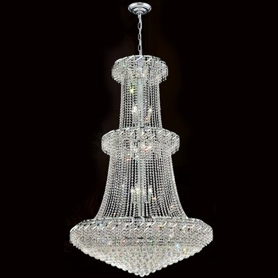 Empire 32-Light Crystal Chandelier Finish: Chrome