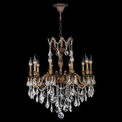 Versailles 10-Light Crystal Chandelier Size: 29 H x 26 W