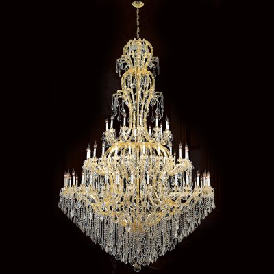 Kiazolu 72-Light Crystal Chandelier Color: Gold