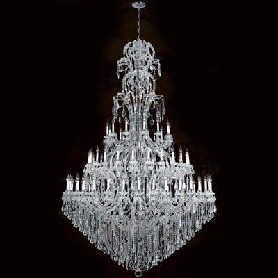 Maria Theresa 72-Light Crystal Chandelier Finish: Chrome