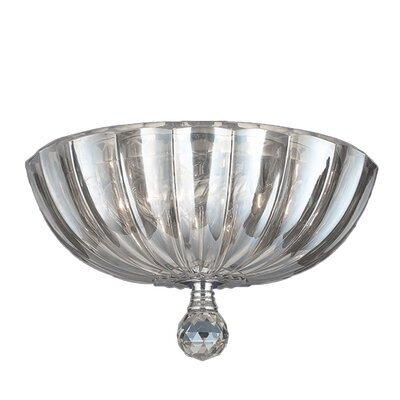 Mansfield 3-Light Flush Mount Crystal Color: Clear