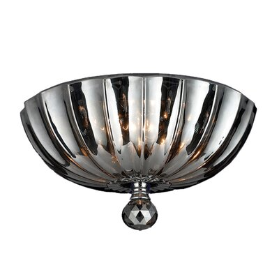 Mansfield 3-Light Flush Mount Crystal Color: Smoke