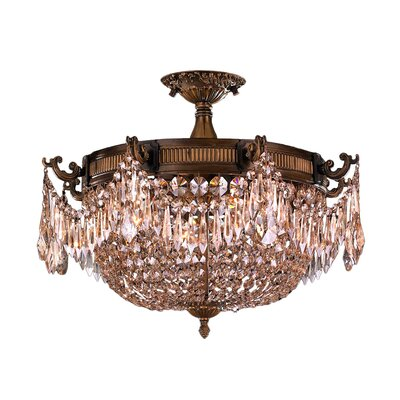 Reimer 3-Light Glass Semi-Flush Mount