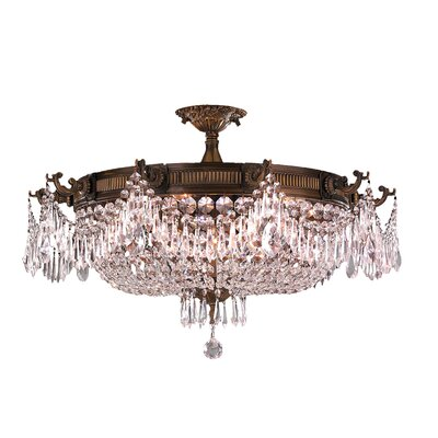 Reimer 10-Light Semi-Flush Mount