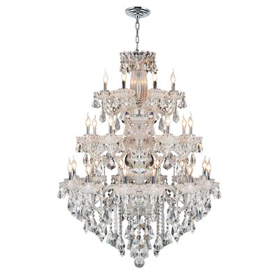 Pulaski 23-Light Crystal Chandelier