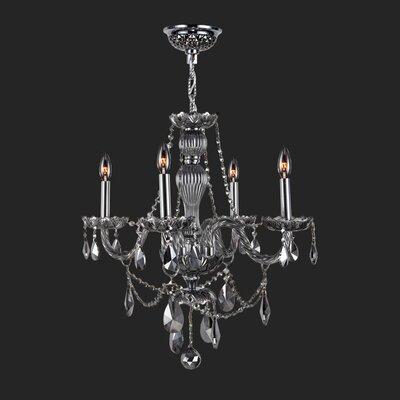 Provence 4-Light Crystal Chandelier Crystal Color: Smoke