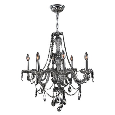 Provence 8-Light Crystal Chandelier Crystal Color: Chrome