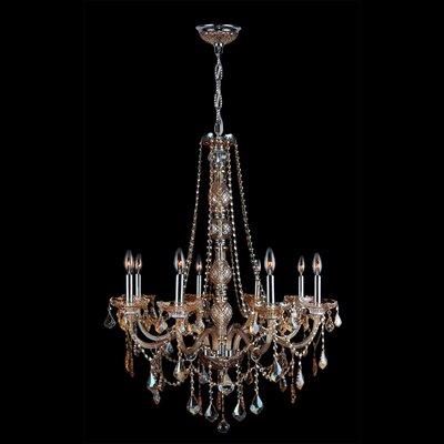 Provence 8-Light Crystal Chandelier Crystal Color: Amber