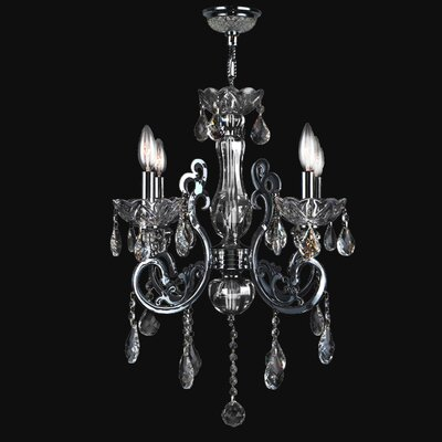 Koome 4-Light Crystal Chandelier Crystal Color: Chrome