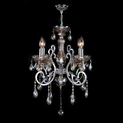 Koome 4-Light Crystal Chandelier Crystal Color: Golden Teak