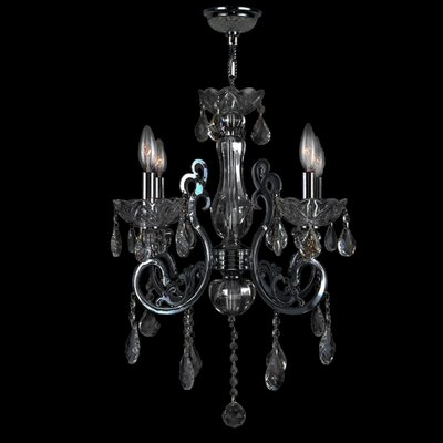 Koome 4-Light Crystal Chandelier Crystal Color: Smoke