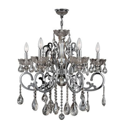 Koome 6-Light Crystal Chandelier Crystal Color: Clear