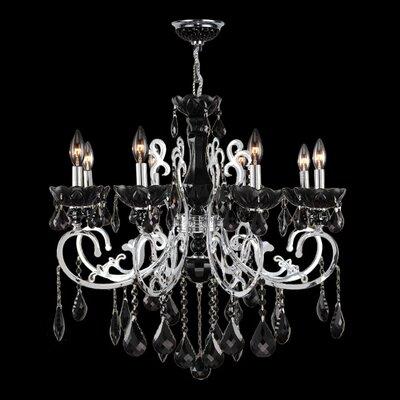 Kronos 8-Light Crystal Chandelier Crystal Color: Black