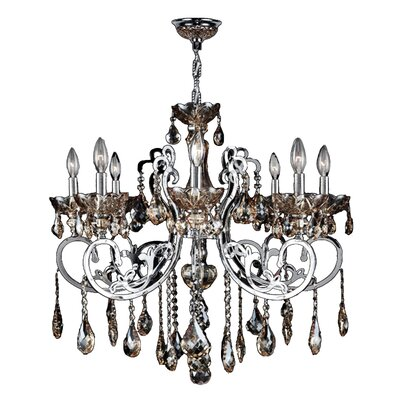 Kronos 8-Light Crystal Chandelier Crystal Color: Golden Teak