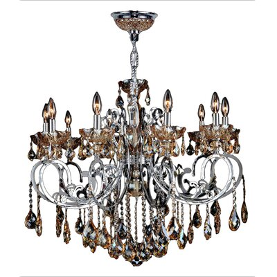 Koome 10-Light Crystal Chandelier Crystal Color: Amber