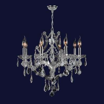 Zhora 8-Light Crystal Chandelier Crystal Color: Clear