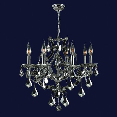 Lyre 8-Light Crystal Chandelier Crystal Color: Black