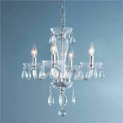 Gastby 5-Light Crystal Chandelier Glass Color: Clear