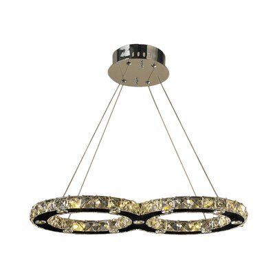 Leiter 22-Light Crystal Pendant Size: 22 L X 11 W X 1.5 H