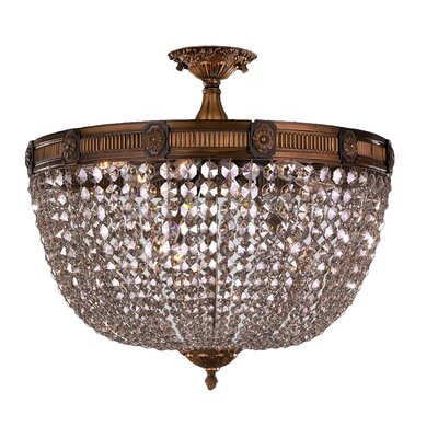 Reimer Traditional 9-Light Semi Flush Mount