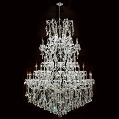 Kiazolu Traditional 60-Light Crystal Chandelier