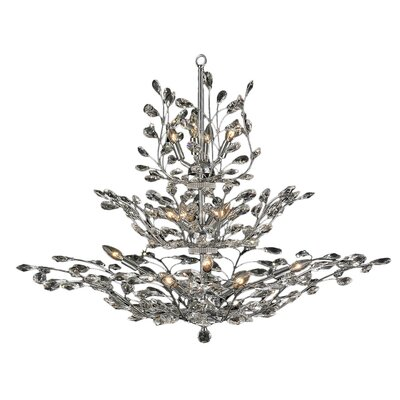 Safiya Glam 18-Light Crystal Chandelier
