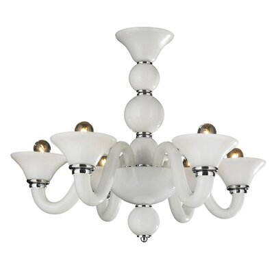 Melvina Glam 6-Light Shaded Chandelier