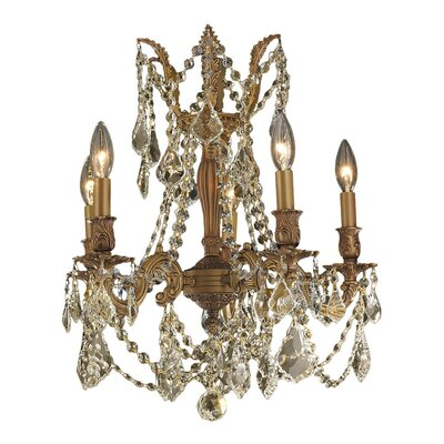 Radtke 5-Light Crystal Chandelier