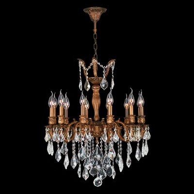 Dodson 12-Light Chain Crystal Chandelier Crystal Color: Clear