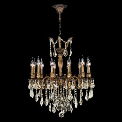Dodson 12-Light Hardwired Crystal Chandelier