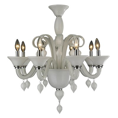 Melvina Traditional 8-Light Candle-Style Chandelier