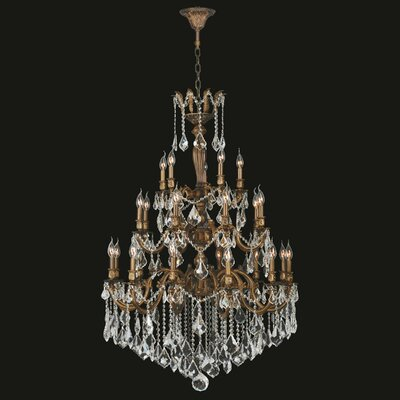 Versailles 25-Light Crystal Chandelier Crystal Color: Clear