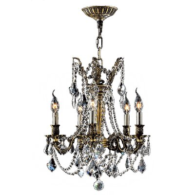 Windsor 5-Light Crystal Chandelier Crystal Color: Clear
