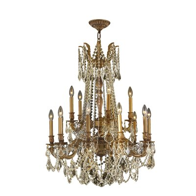 Radtke 15-Light Crystal Chandelier Finish: French Gold