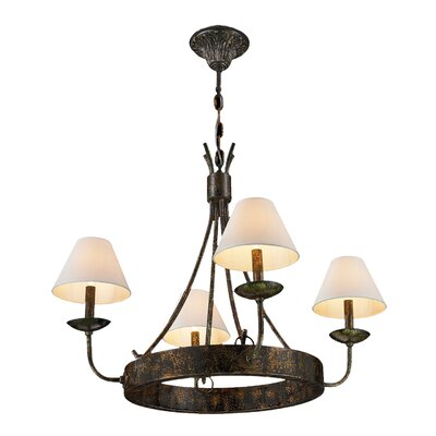 Wigwam 4-Light Shaded Chandelier