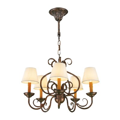Savannah 5-Light Shaded Chandelier