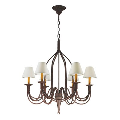 Saratoga 6-Light Shaded Chandelier
