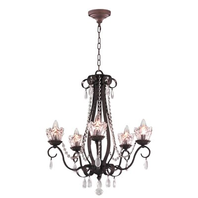 Gardenia 5-Light Crystal Chandelier